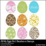 My Eggs No. 01 Brushes And Stamps
