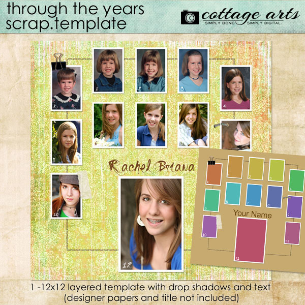 Through the Years Scrap.Template