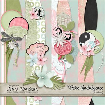 Pure Indulgence Borders Digital Art - Digital Scrapbooking Kits