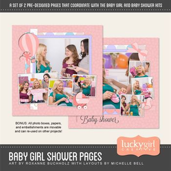 Baby Girl Shower Pre-designed Pages