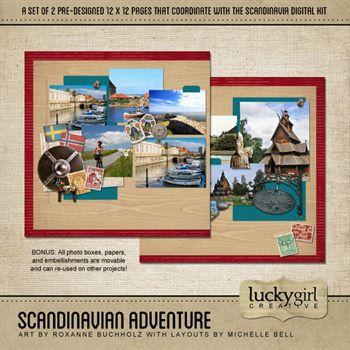 Scandinavian Adventure Pre-designed Pages
