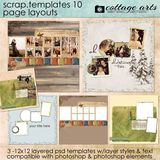 12 X 12 Scrap Templates 10 - Page Layouts