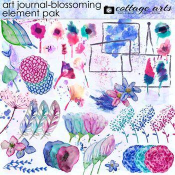Art Journal - Blossoming Element Pak