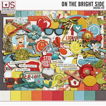 On The Bright Side - Kit Digital Art - Digital Scrapbooking Kits