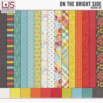 On The Bright Side - Papers Digital Art - Digital Scrapbooking Kits