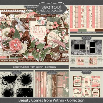 Beauty Comes From Within Bundled Collection Digital Art - Digital Scrapbooking Kits