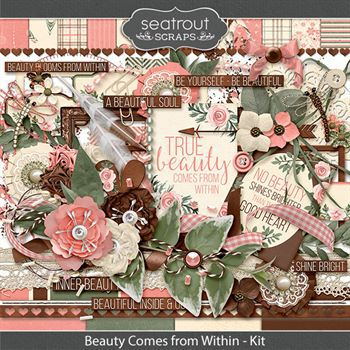 Beauty Comes From Within Kit Digital Art - Digital Scrapbooking Kits