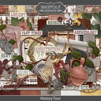 History Tour Digital Art - Digital Scrapbooking Kits