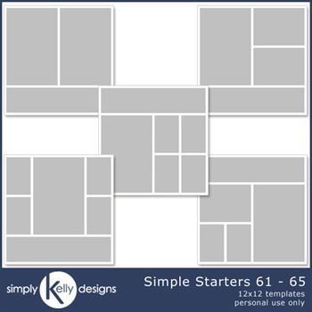 Simple Starters 12x12 Templates 61 To 65