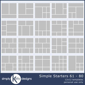 Simple Starters 12x12 Templates 61 To 80 Bundle