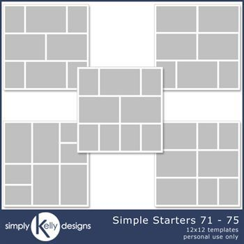 Simple Starters 12x12 Templates 71 To 75