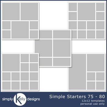 Simple Starters 12x12 Templates 76 To 80