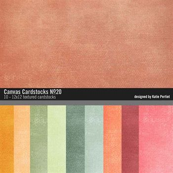 Canvas Cardstocks Paper Pack No. 20