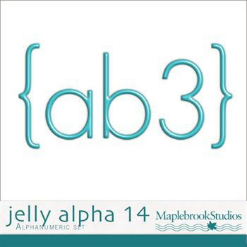 Jelly Alphabet No. 14