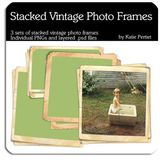Stacked Vintage Photo Frames