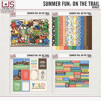 Summer Fun - On The Trail - Bundle Digital Art - Digital Scrapbooking Kits