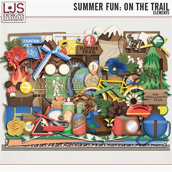 Summer Fun - On The Trail - Elements Digital Art - Digital Scrapbooking Kits