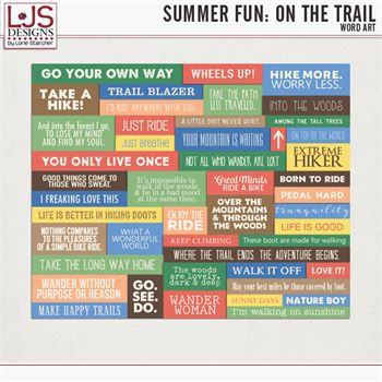 Summer Fun - On The Trail - Word Art Digital Art - Digital Scrapbooking Kits
