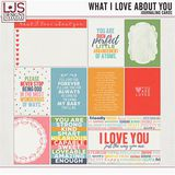 What I Love About You - Journal Cards