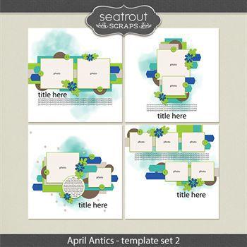 April Antics Template Set 2