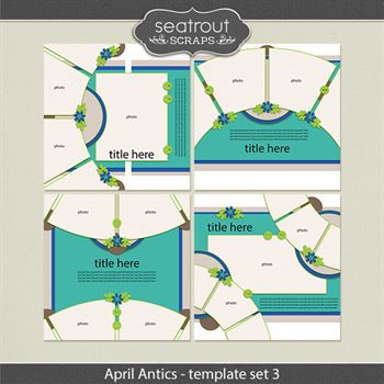 April Antics Template Set 3