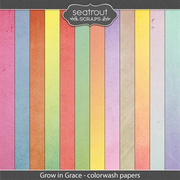 Grow In Grace Colorwash Papers