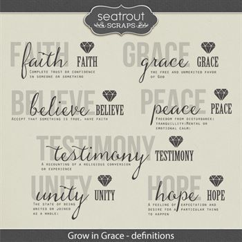 Grow In Grace Definitions