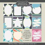 Tell Your Story Journal Cards Set 1