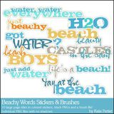 Beachy Words Stickers And Brushes