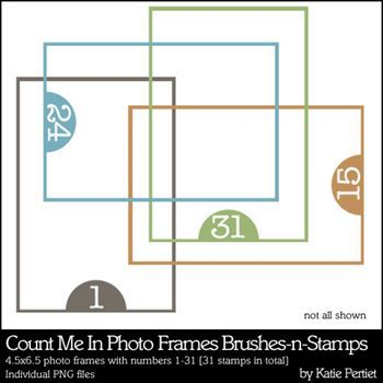 Count Me In Photo Frames Brushes And Stamps