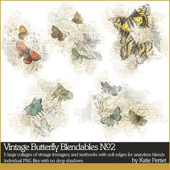 Vintage Butterfly Blendables No. 02