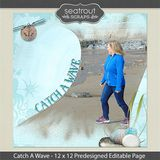 12 X 12 Catch A Wave Predesigned Editable Page