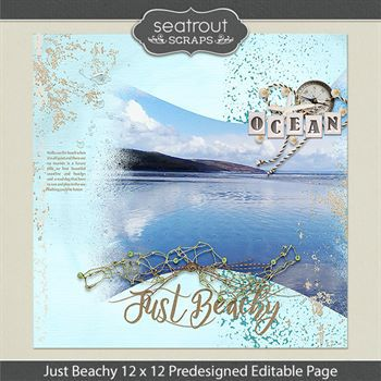 12 X 12 Just Beachy Predesigned Editable Page