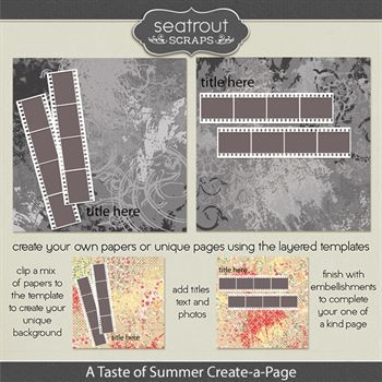 A Taste Of Summer Create-a-page Templates