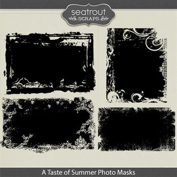 A Taste Of Summer Photo Masks Digital Art - Digital Scrapbooking Kits