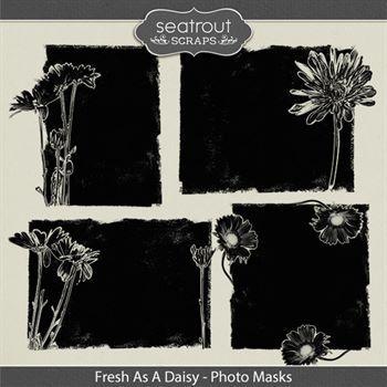 Fresh As A Daisy Photo Masks Digital Art - Digital Scrapbooking Kits
