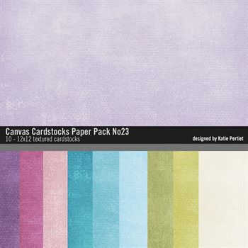 Canvas Cardstocks Paper Pack No. 23