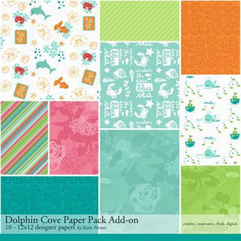Dolphin Cove Add-on Paper Pack