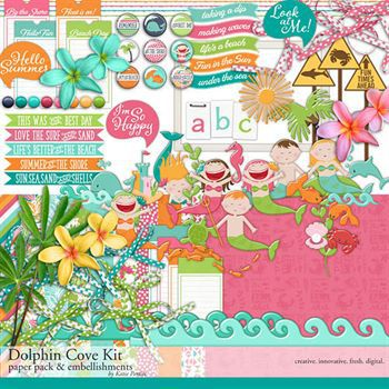 Dolphin Cove Scrapbooking Kit