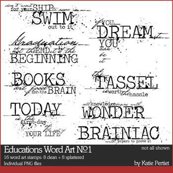 Education Word Art Brushes And Stamps