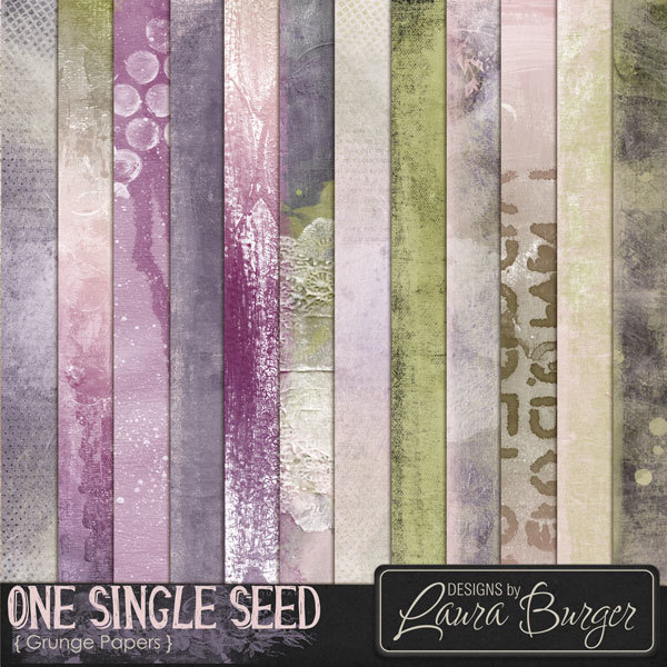One Single Seed Grunge Papers