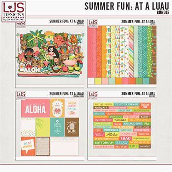 Summer Fun - At A Luau - Bundle