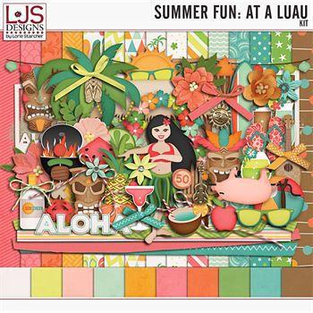 Summer Fun - At A Luau - Elements
