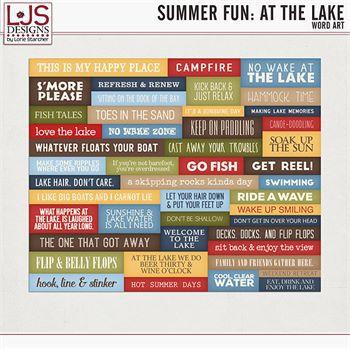 Summer Fun - At The Lake - Word Art Digital Art - Digital Scrapbooking Kits