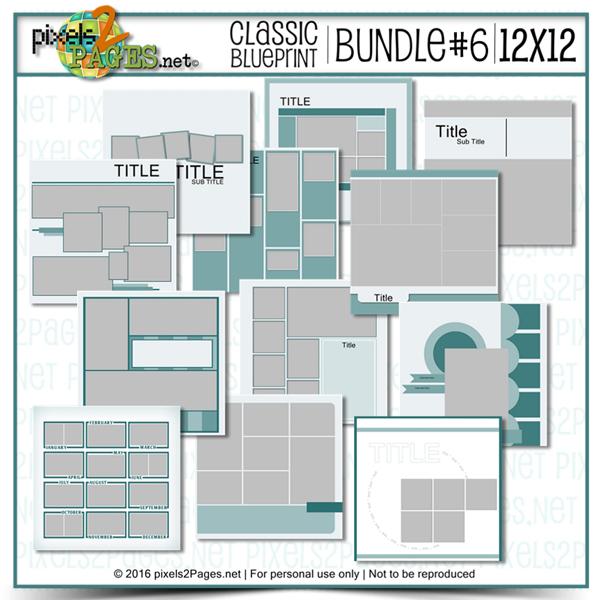 12x12 Classic Blueprint Bundle #6