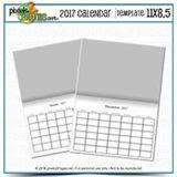 2017 Calendar Template 11x8.5