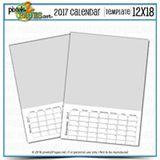 2017 Calendar Template 12x18