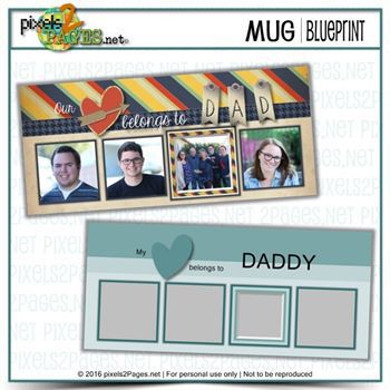 Mug Blueprint Daddy's Heart
