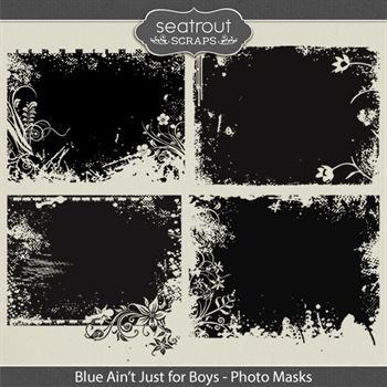 Blue Ain't Just For Boys Photo Masks