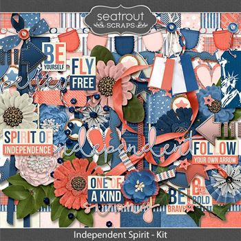 Independent Spirit Digital Art - Digital Scrapbooking Kits
